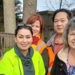 ESD's employees at last year's clean-up event