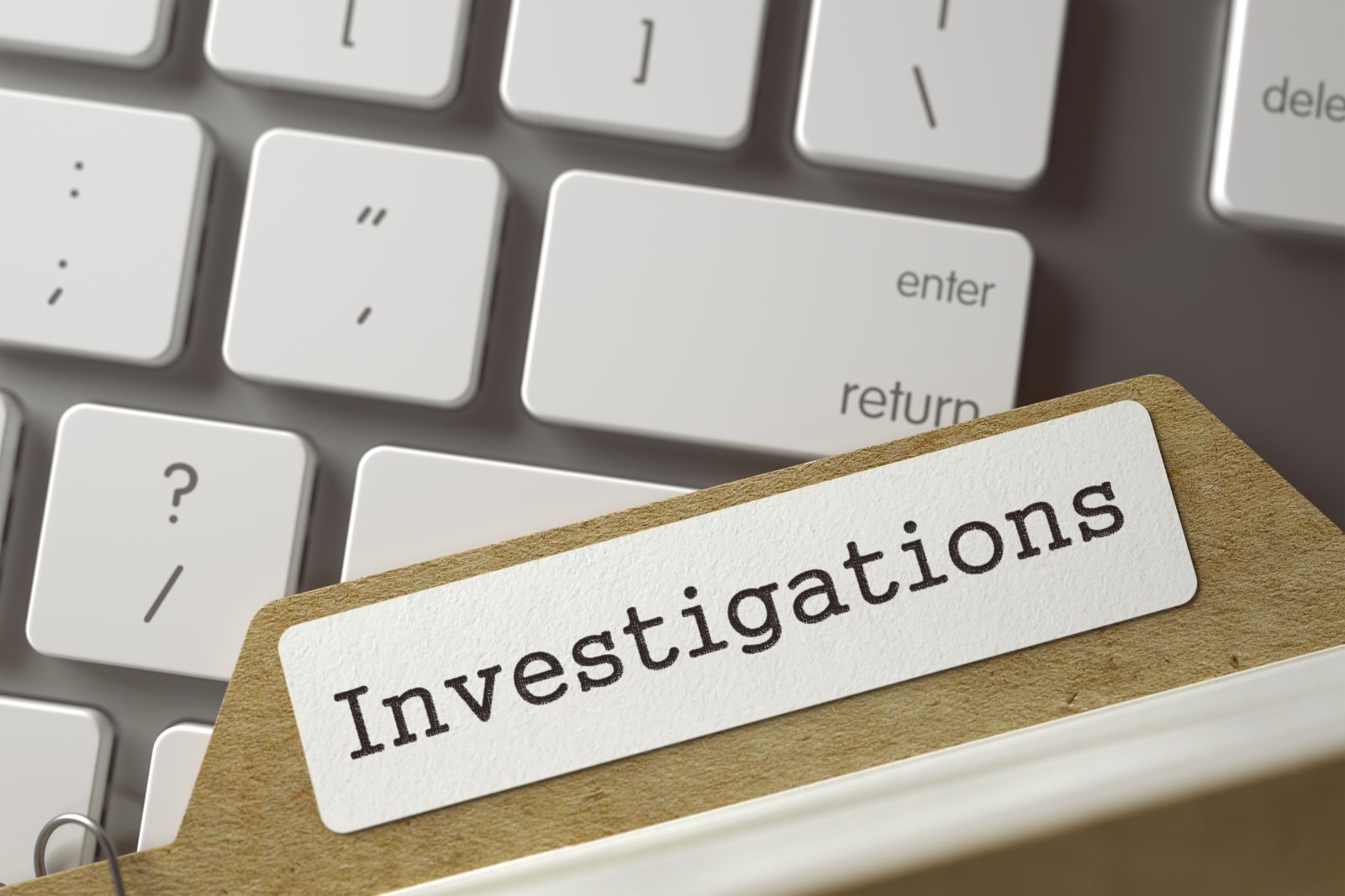 Investigations folder on keyboard